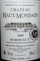 Bordeaux Haut-Mondain Label