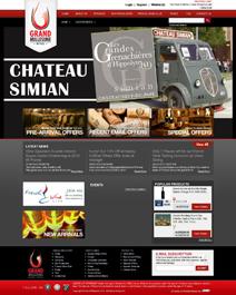 Screengrab New Homepage