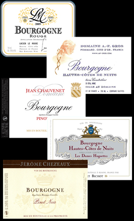 5 Bourgogne Labels