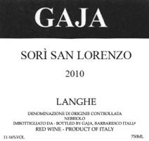 Gaja San Lorenzo Label