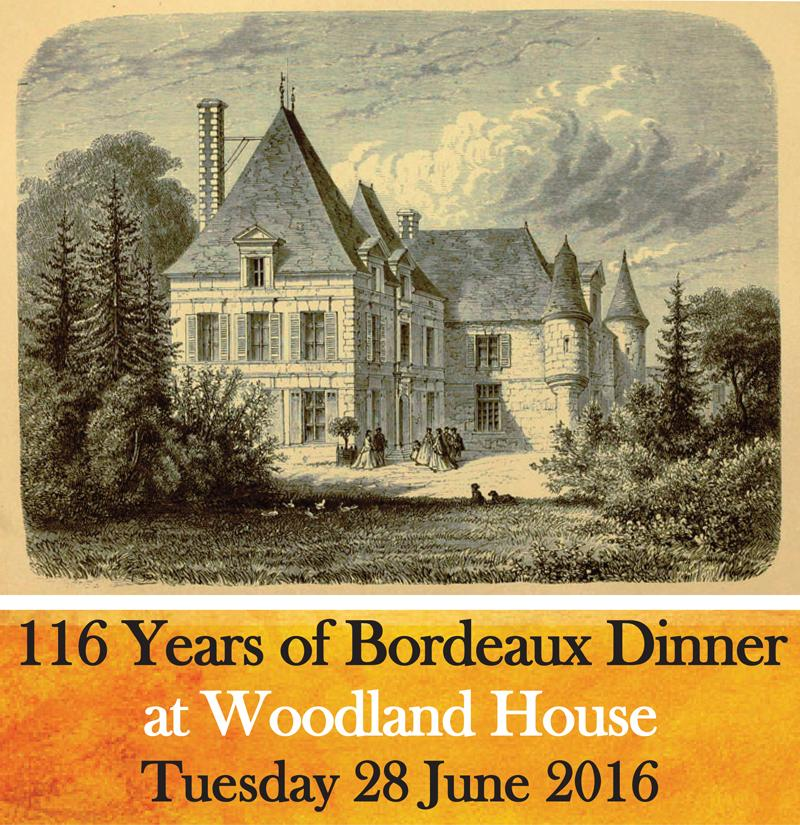 116 Years of Bordeaux Dinner Header