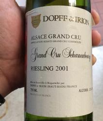 Dopff Irion Schoenebourg Label