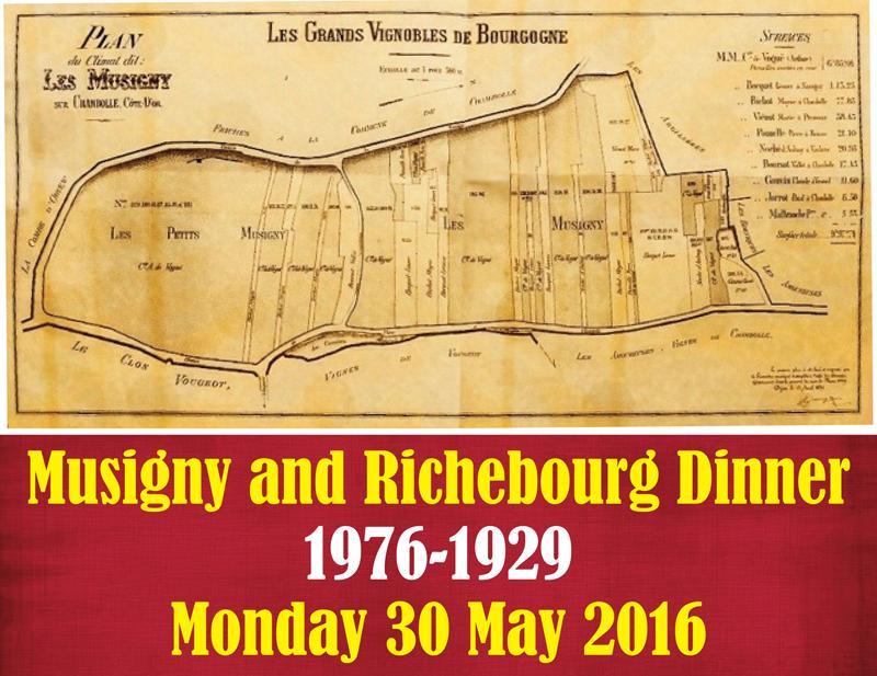 Musigny-Richebourg Dinner Header