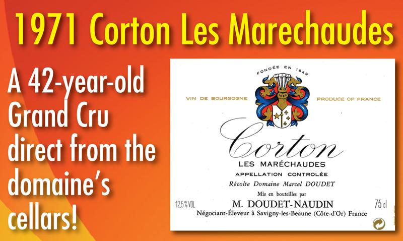 1971 Corton Les Marechaudes Grand Cru 42 Years Old