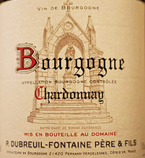 Dubreuil-Fontaine Bourgogne Blanc Label