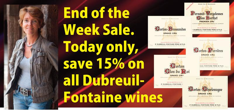 Dubreuil-Fontaine End of the Week Sale Headr