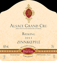 Bursin Riesling Zinnkoepfle Label