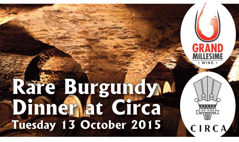 Circa Rare Burg Dinner Oct 2015