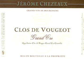 Chezeaux Clos Vougeot Label