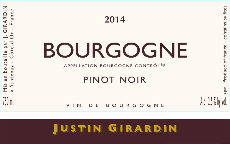 Girardin Bourgogne 2014