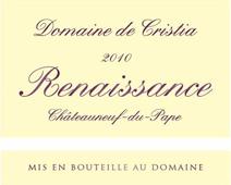 Cristia Renaissance 2010 Label