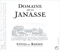 Janasse Cotes du Rhone Label