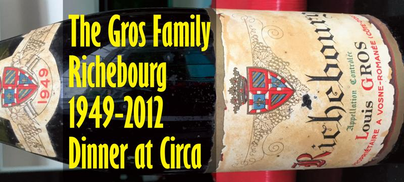 Gros Richebourg Dinner