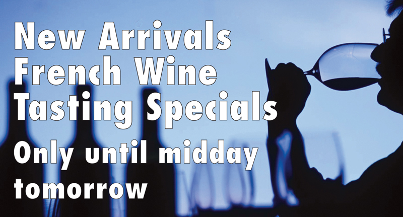 New Arrivals Tasting Special Header