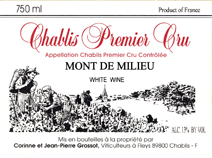 Grossot Milieu Label
