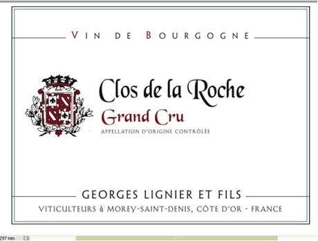 Lignier Clos de la Roche label