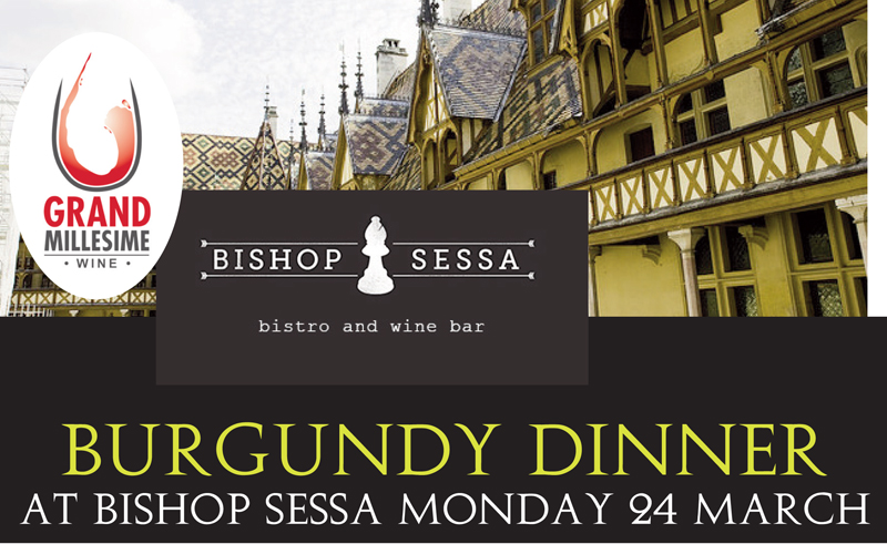 Bishop Sessa Burgundy Dinner