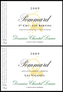 Lescure Pommard Label Pair