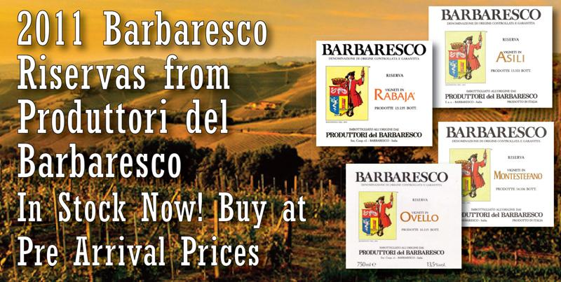 Produttoria Barbaresco 2011 in stock header