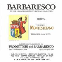 Produttori Montestefano label