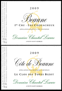 Lescure Beaune Label Pair