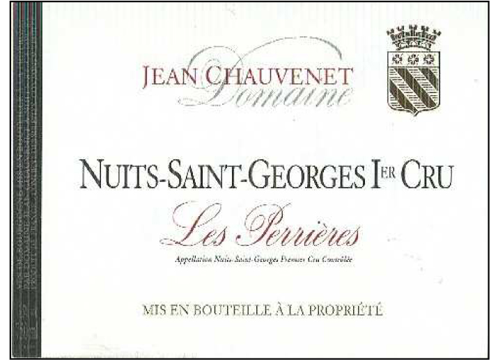 Chauvenet Perrieres Label