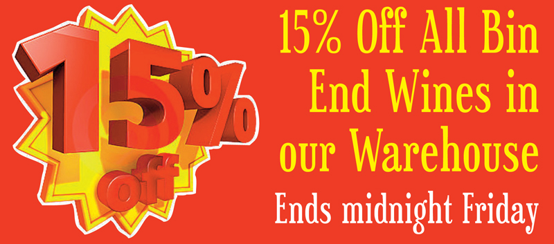 Bin Ends Warehouse Sale Header