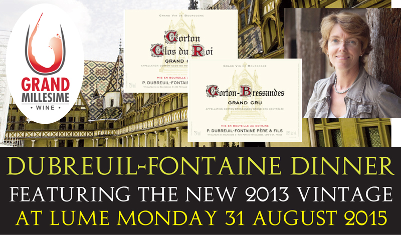 Dubreuil-Fontaine 2013 Dinner