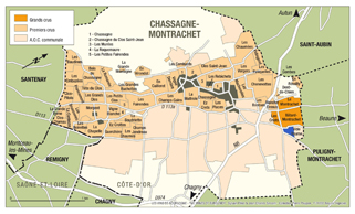 Chassagne-Montrachet Vide Bourse Map