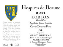 Hospices 2011 Corton Label