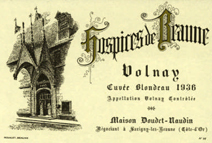 Doudet Volnay Blondeau 1936 Label