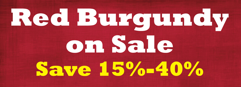 Red Burgundy Sale Header