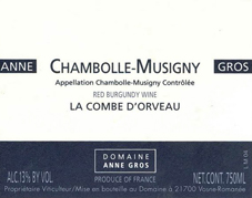 Anne Gros Chambolle Label