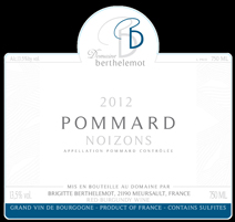 Berthelemot Noizons 2012 Label