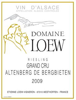 Loew Riesling Altenberg Label