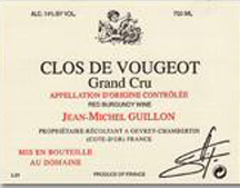 Guillon Clos Vougeot label