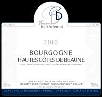 Berthelemot Hautes Cotes 2010