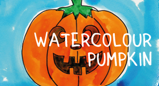 4cats watercolour pumpkin workshop