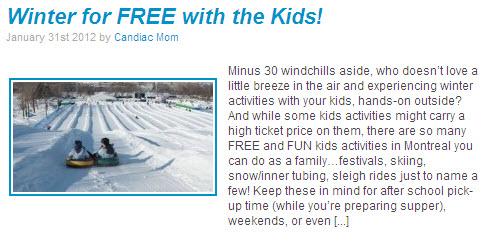 winter for free with the kids