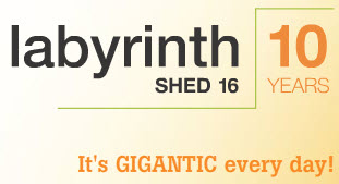 Shed 16 labyrinth