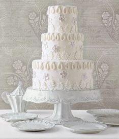Vietri Lace Incanto Cake Stand