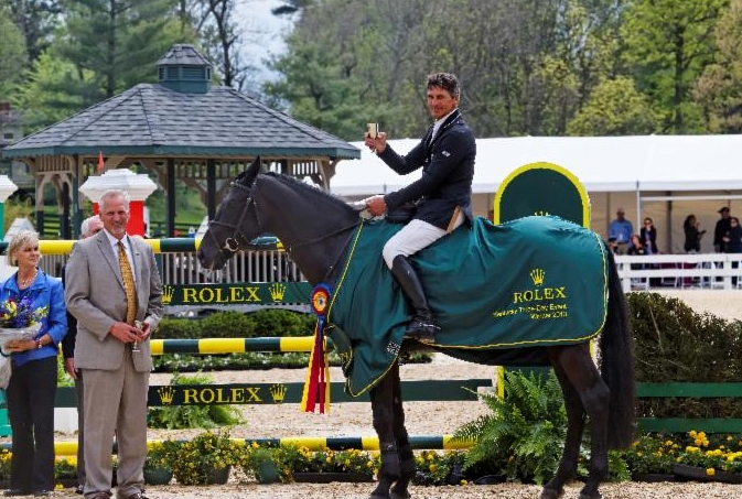 2013 Rolex Kentucky Three-Day Event winner Andrew Nicholson and Quimbo (photo © David Toczko)