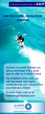 Join the Digital Revolution -Risk Free Several University Presses are taking advantage of the great deal on offer by iPublishCentral. For a fraction of the cost, you can now reach new users worldwide with your eBooks from your branded website. Contact us at marketing@impelsys.com