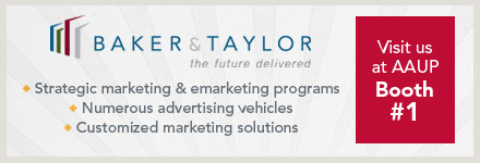 Visit Baker & Taylor at Booth #1 to learn about marketing & advertising.