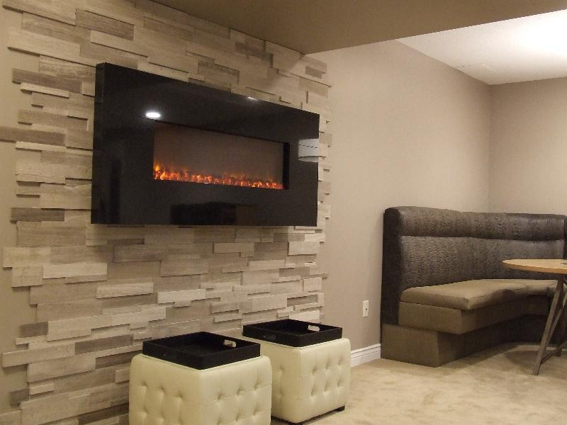 Before amp after basement fireplace festive photos
