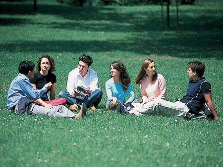 Bocconi students on campus