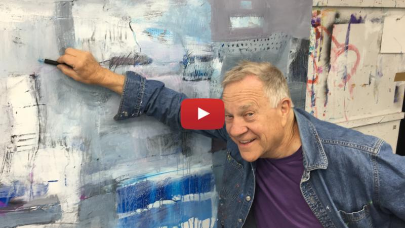 Drawing onto an acrylic painting