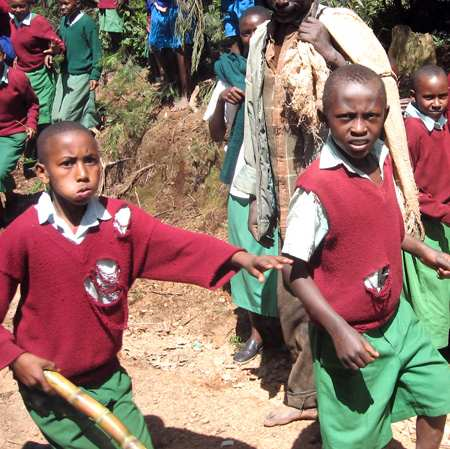 Kaliluni School Boys (torn sweater)