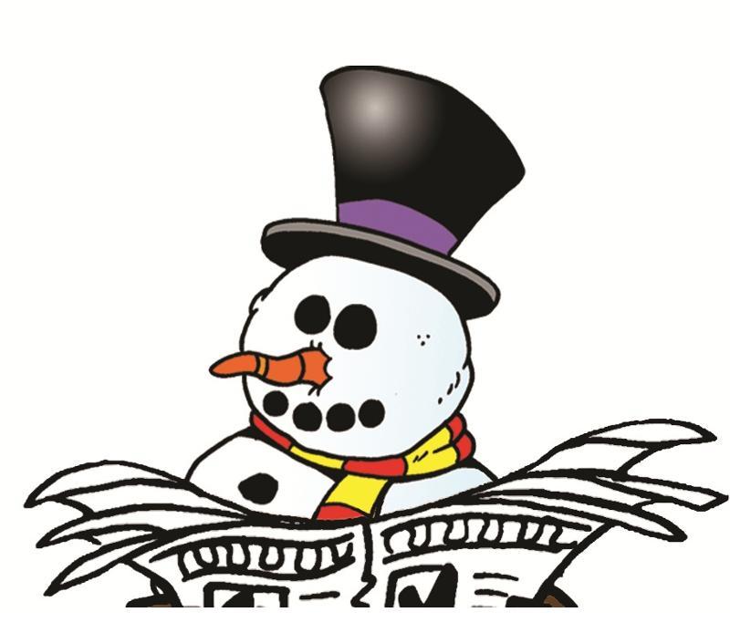 Snowman Newspaper