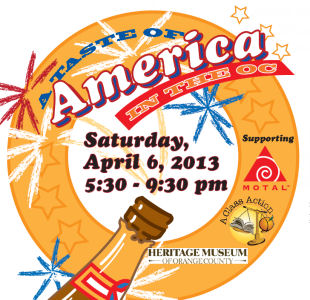 Taste of America in the OC logo